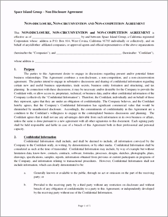 Non Disclosure Non Circumvention and Non petition Agreement paqwo