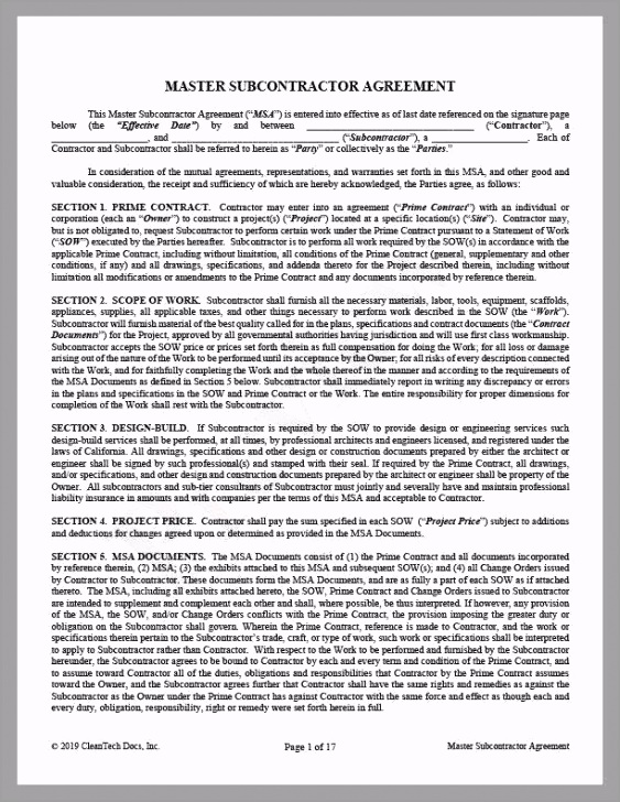 CleanTech Docs Master Subcontractor Agreement CA 1024x1024 aeutu
