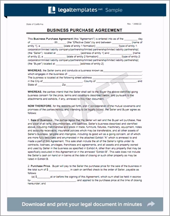 business purchase agreement form eurte