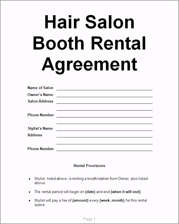 Examples Hair Salon Booth Rental Agreement JPG poupl