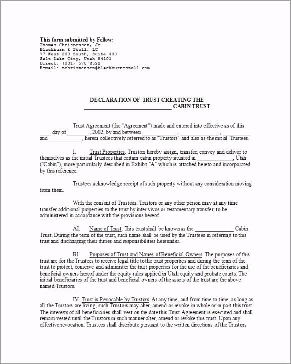 trust agreement 07 tpzri