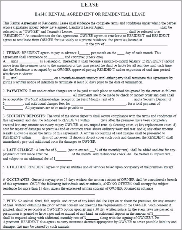 sample tenancy agreement template resident landlord free residential apartment rental lease letter house renting contract word t teysi