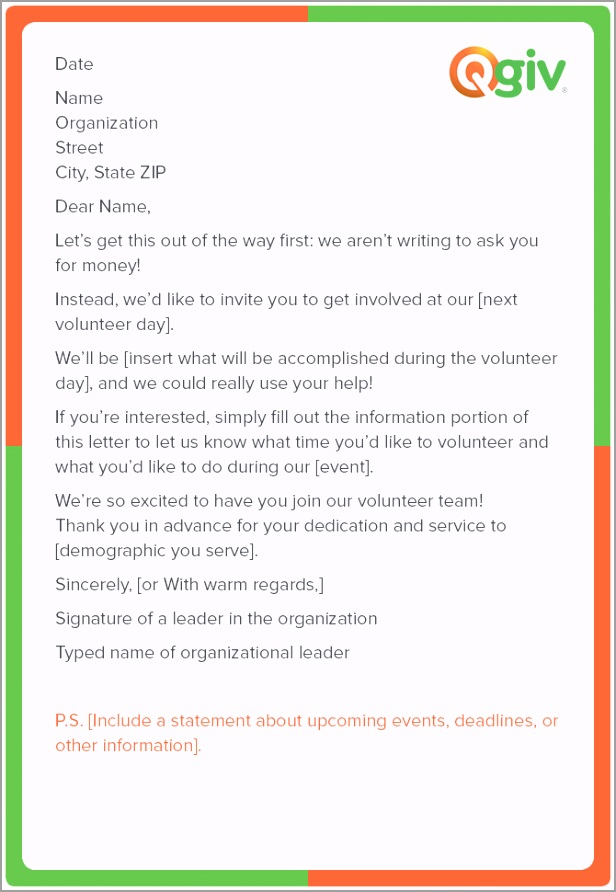 Volunteer Time Request Letter Template ozoeu