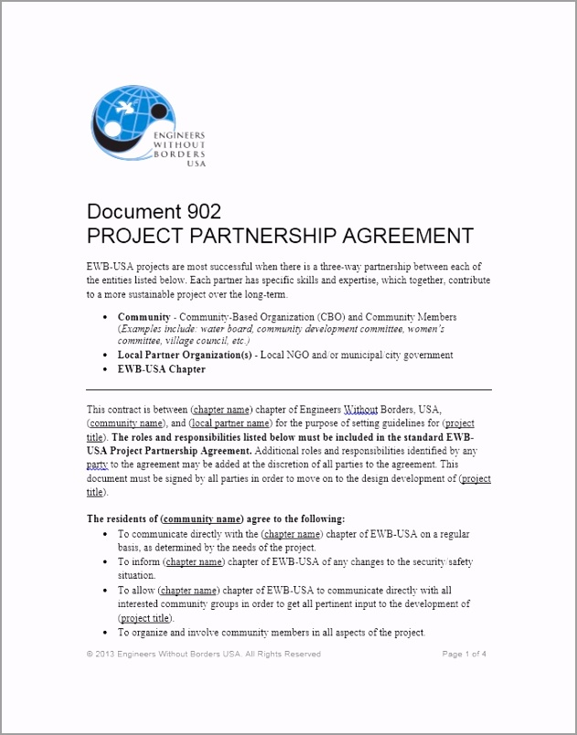 Partnership Agreement Template 16 ttteo