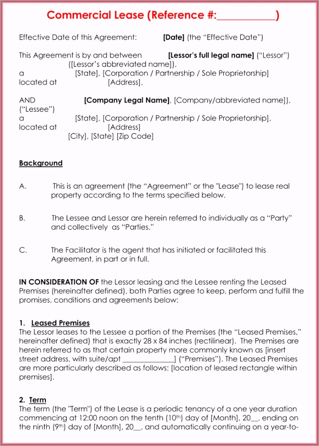 mercial Rental Agreement 7 ufaoj