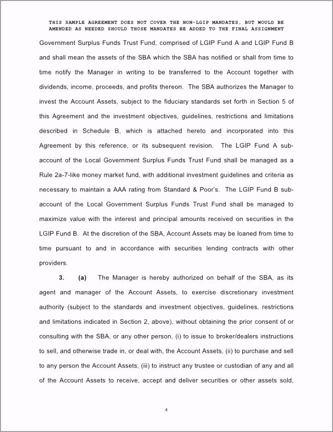 enhanced cash investment management agreement form 4 728 aeaae