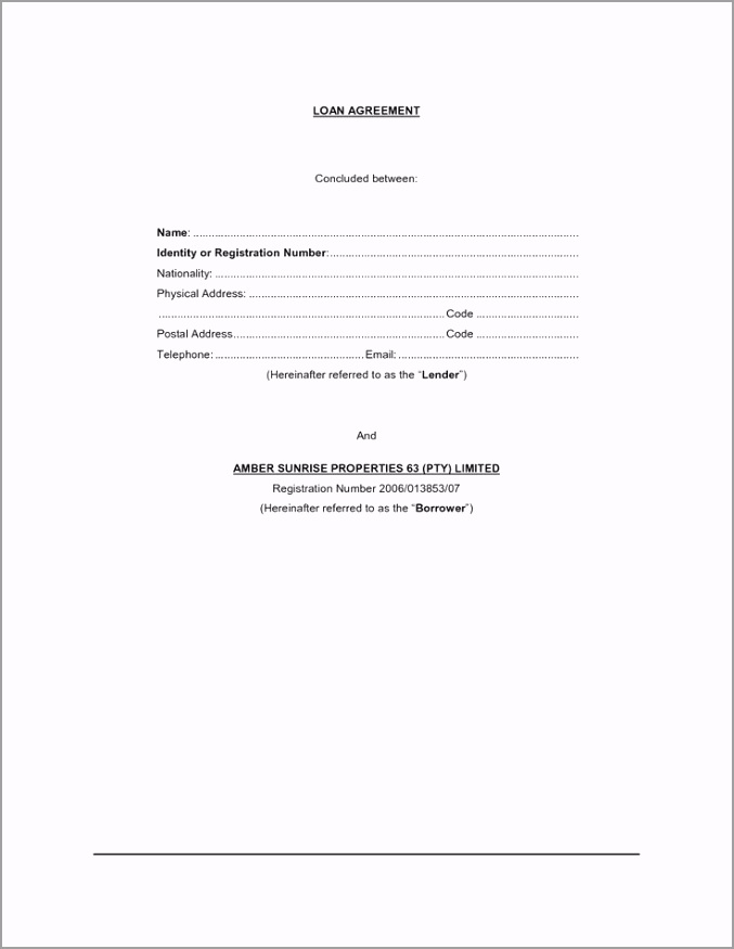 short form loan agreement b519d303b48ce9d7d f40d print online document trreu