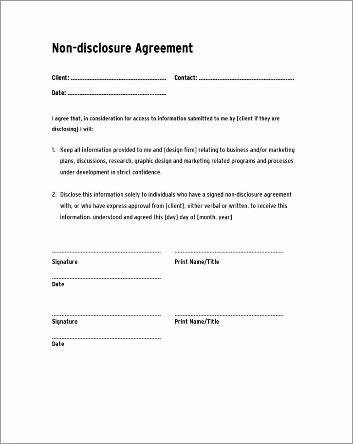 non disclosure agreement template confidentiality agreement thyat
