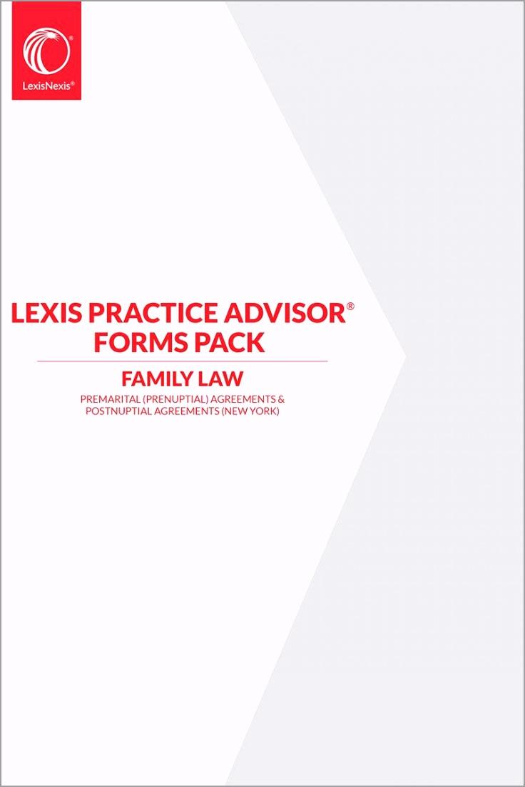 lexis practice advisor forms pack premarital prenuptial agreements postnuptial agreements new york skuSKU zip tynri