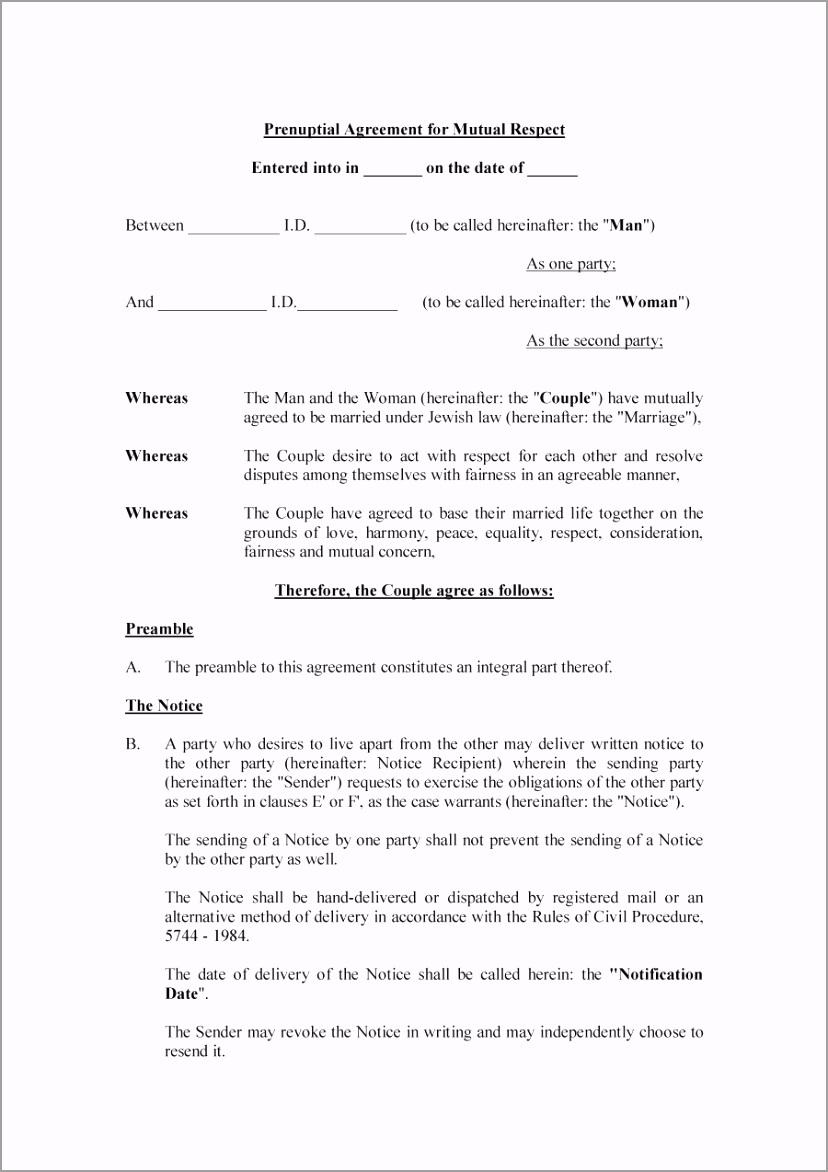 Prenuptial Agreement Template 05 iuytt