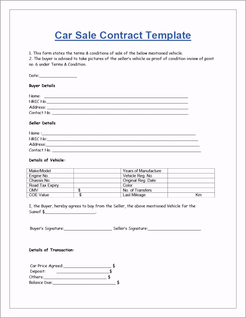 vehicle purchase agreement 28 yiupe