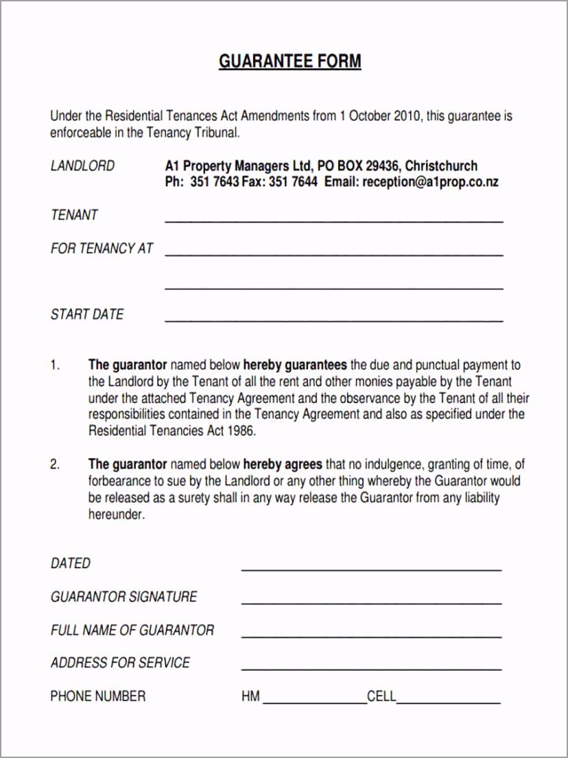 Tenant Guarantee Form1 iorio