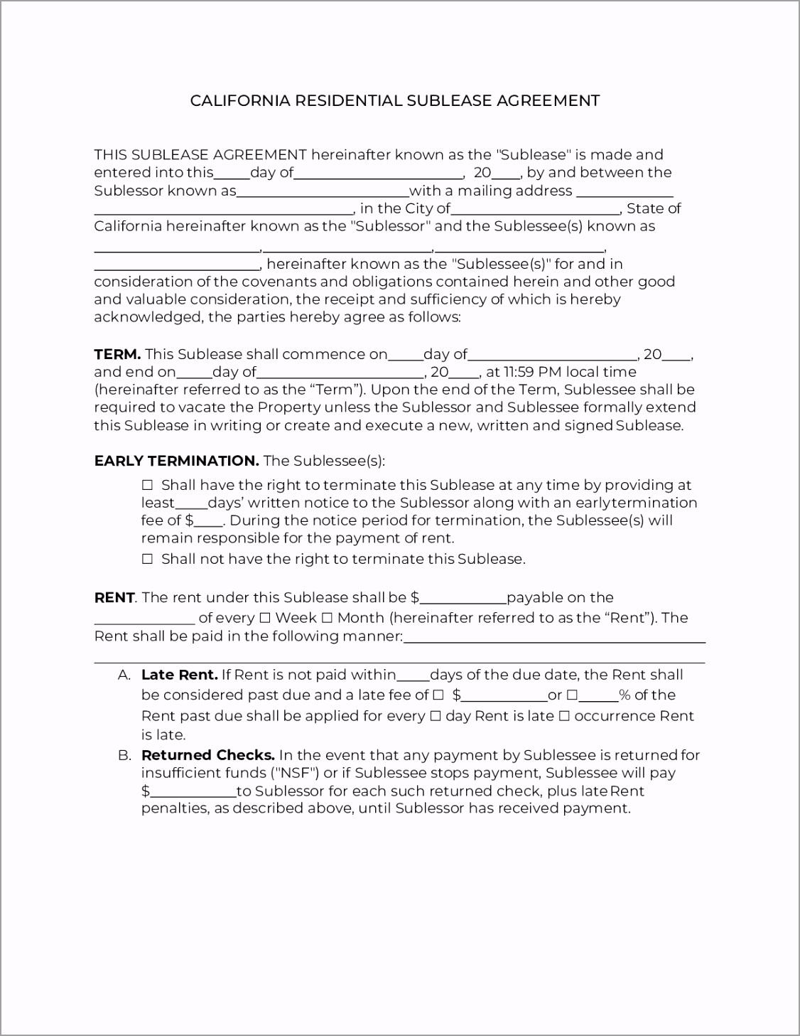 california sublease agreement 0 iwapi