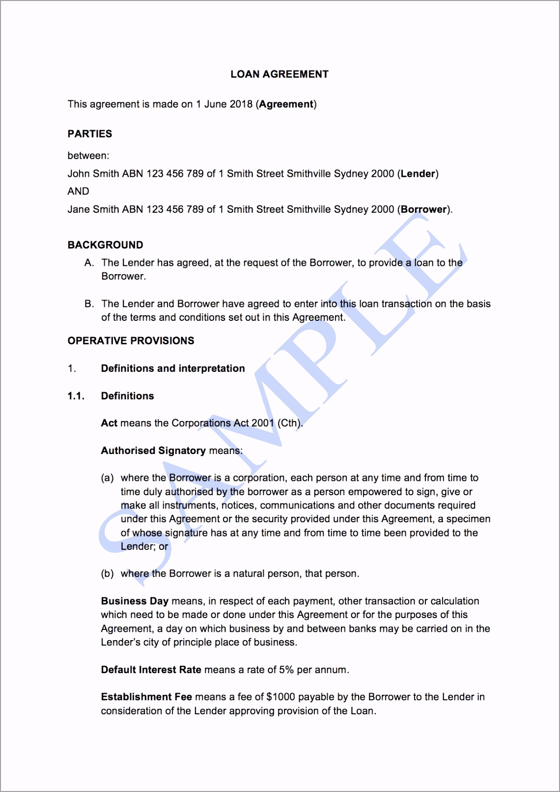 LOAN AGREEMENT with Interest Sample SkxJR4kMX orfiy