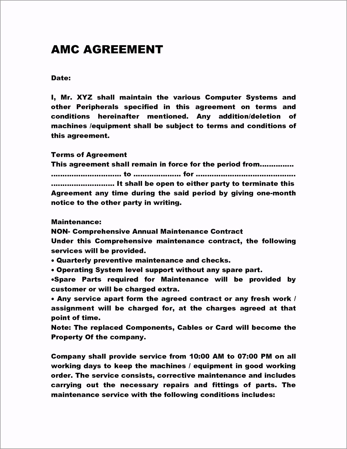 001 archaicawful service contract template doc ideas pttta