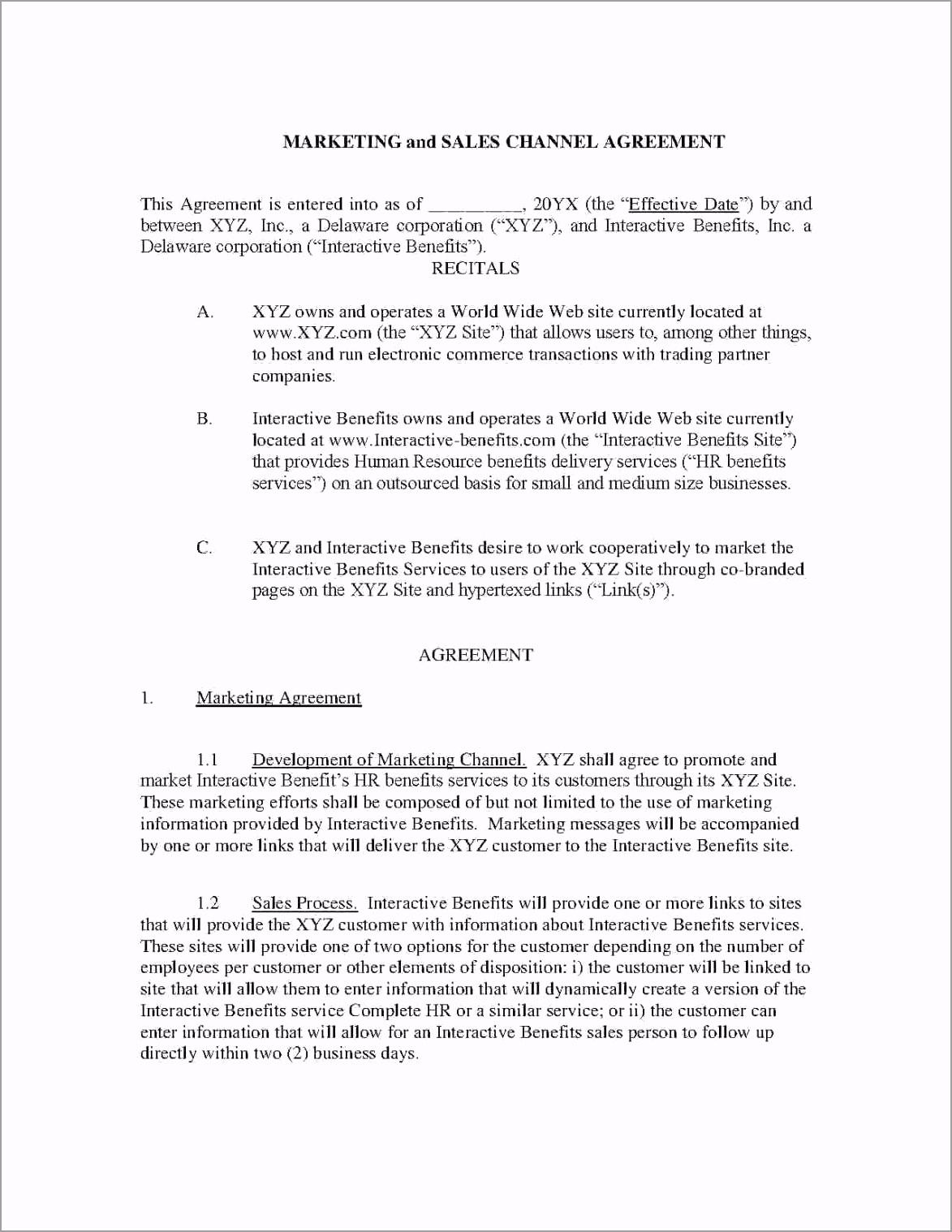 5e4d804d d5fdaa4bb marketing agreement pdf sample arwtt