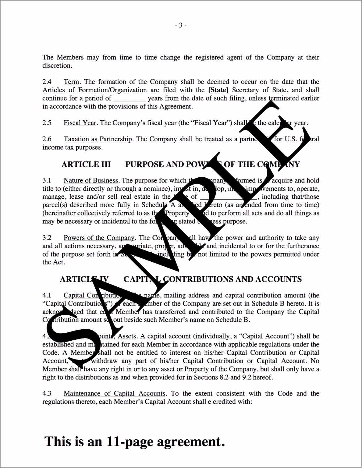 llc operating agreement for real estate usa rutii