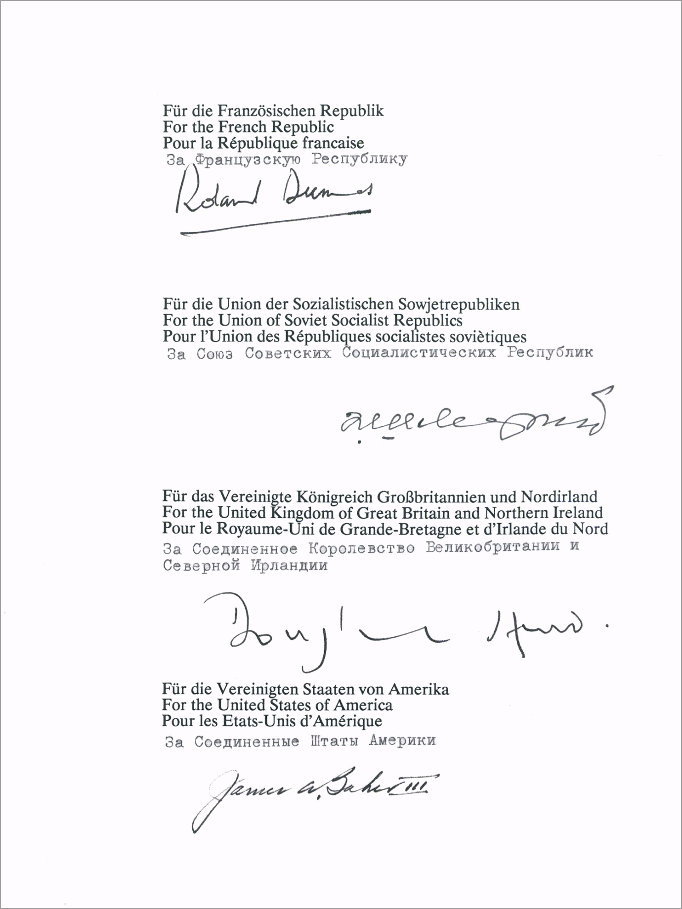 Treaty on the Final Settlement with Respect to Germany urtwt