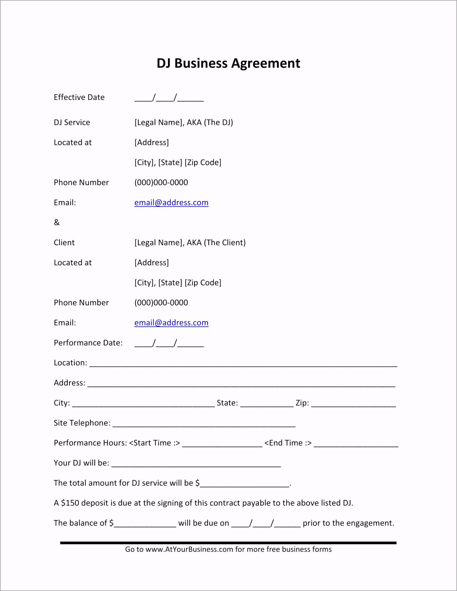 DJ Business Agreement 1 owweg