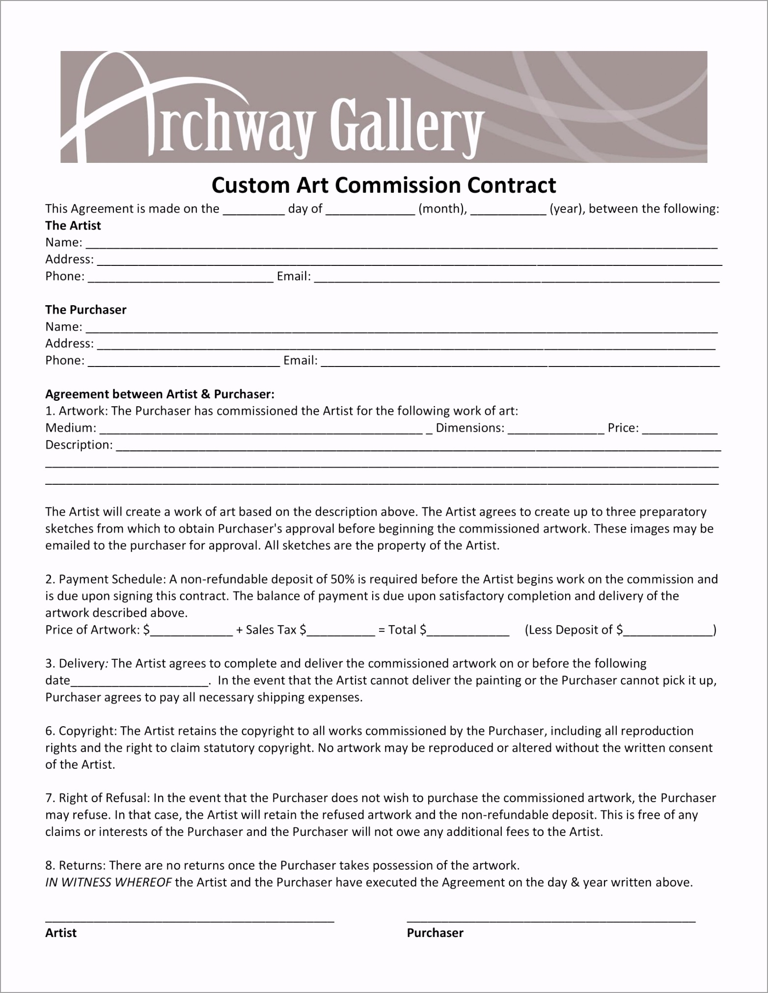 Custom Art mission Contract Form 1 etiha