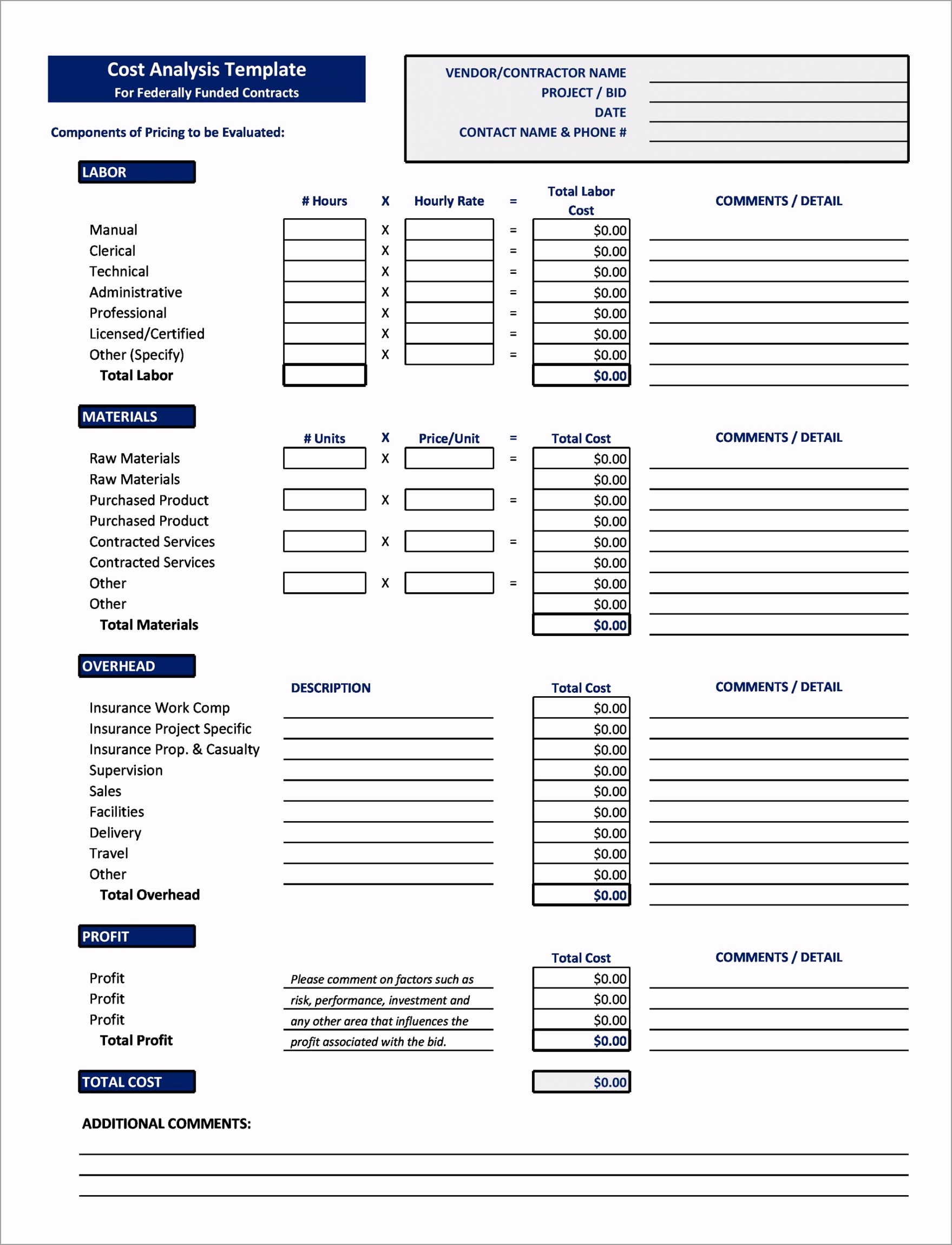 Cost Benefit Analysis Template 06 inawp