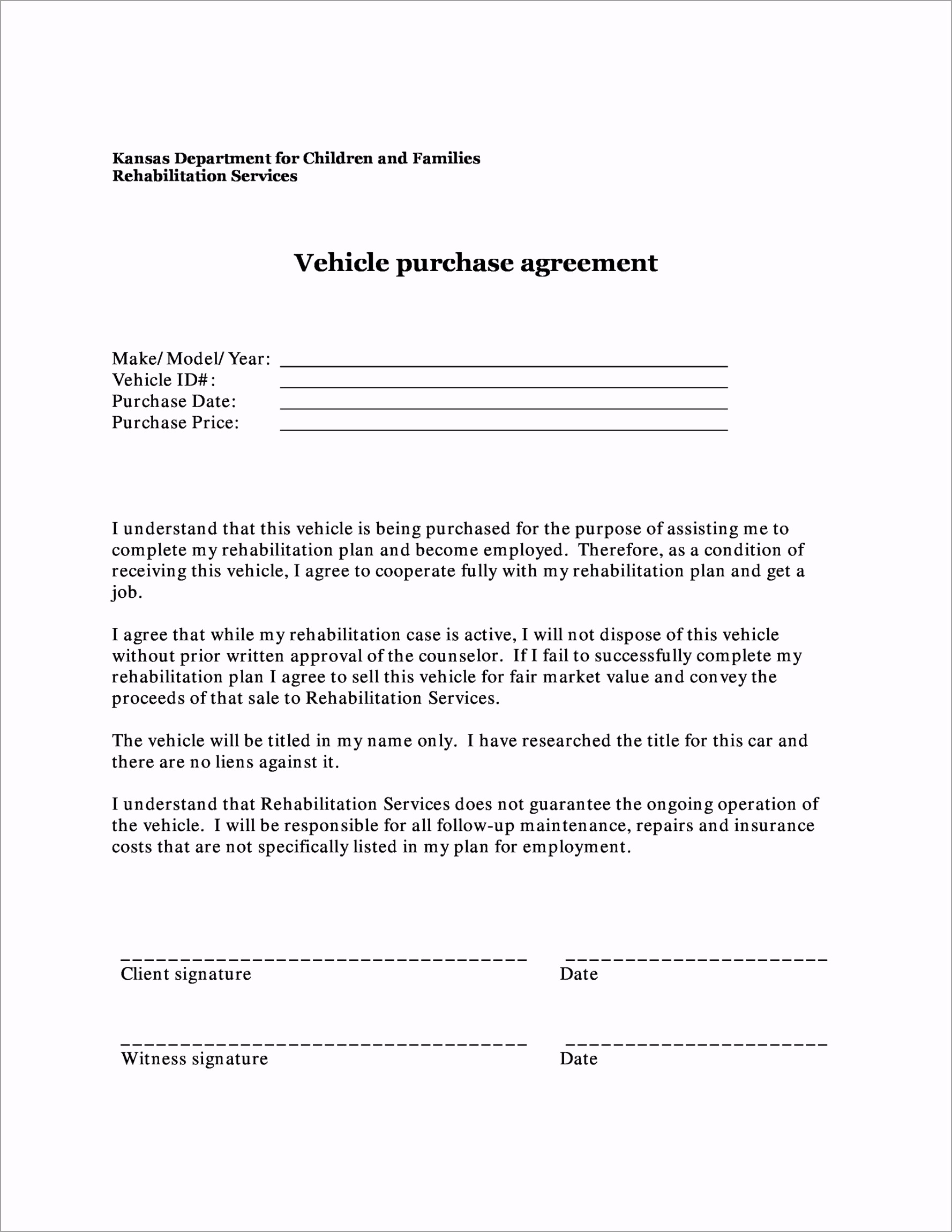 vehicle purchase agreement 07 wriew