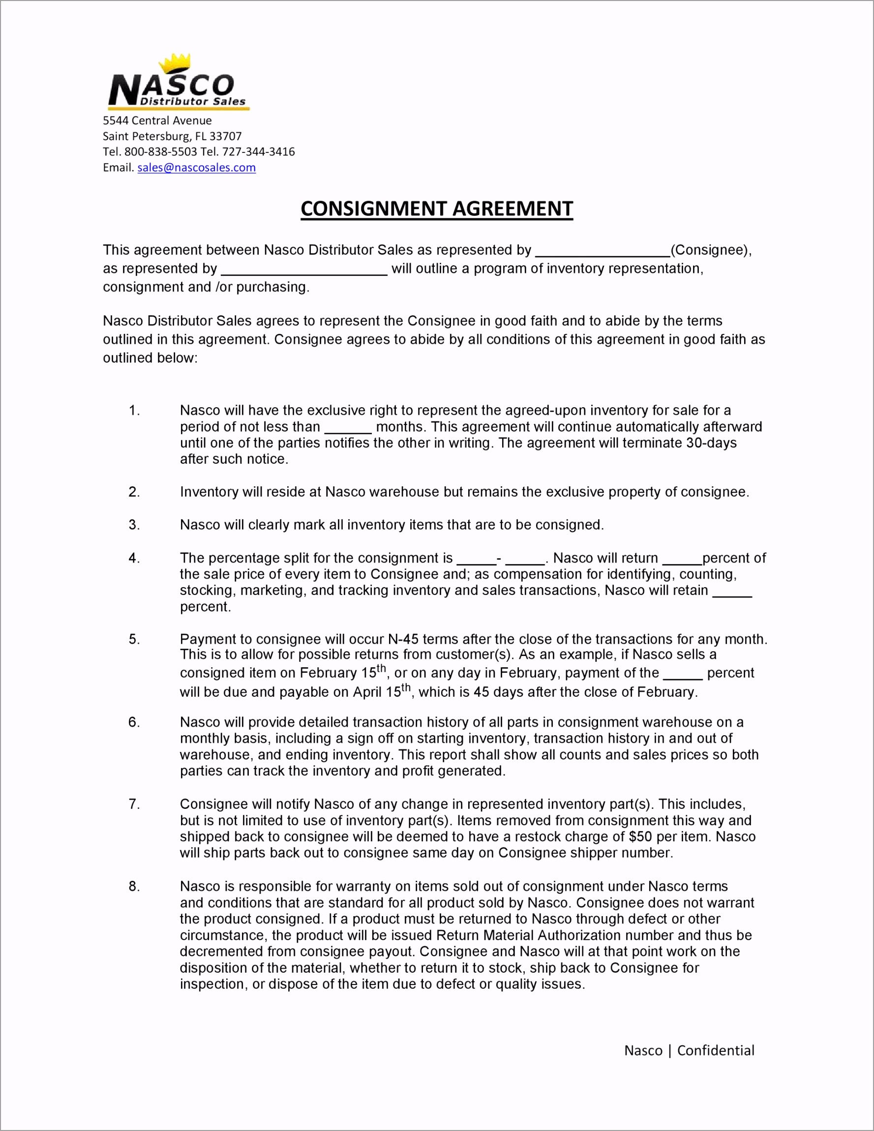 Consignment Agreement Template 40 ujrya