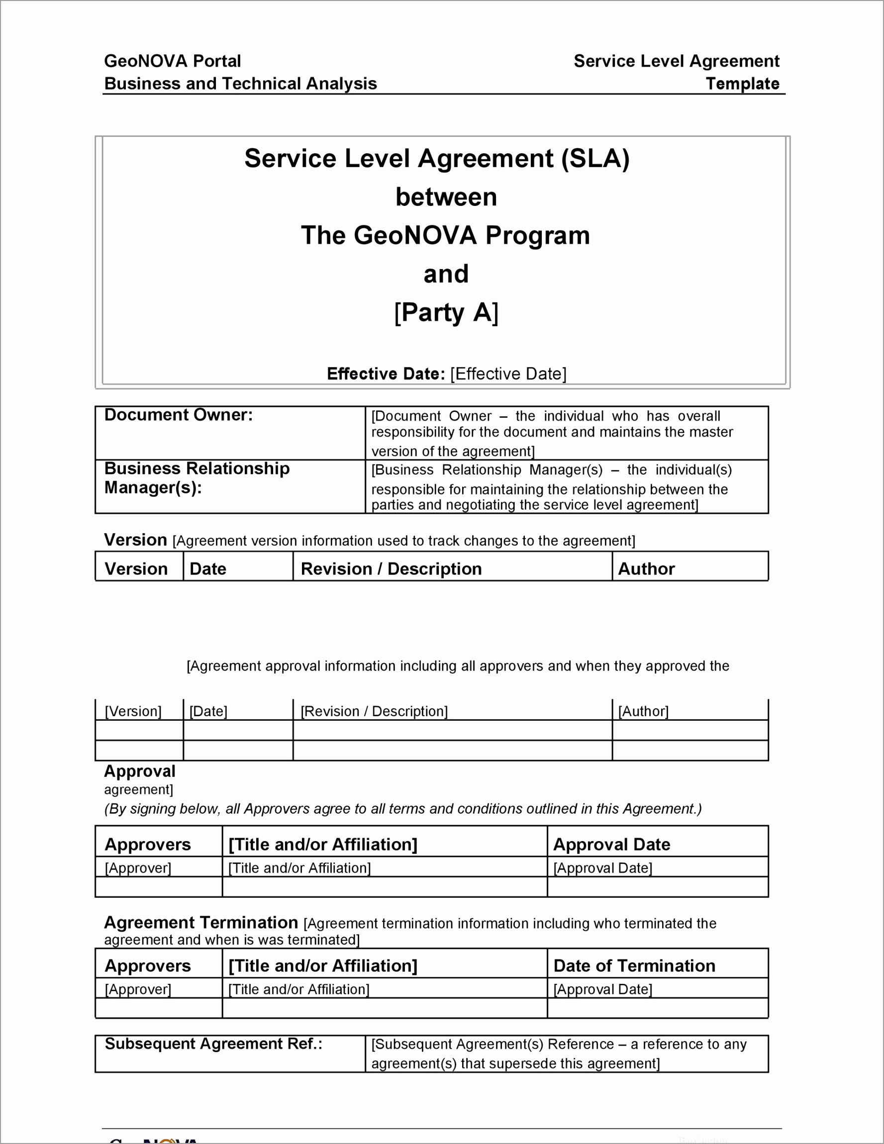 Service Agreement Template 06 iueir