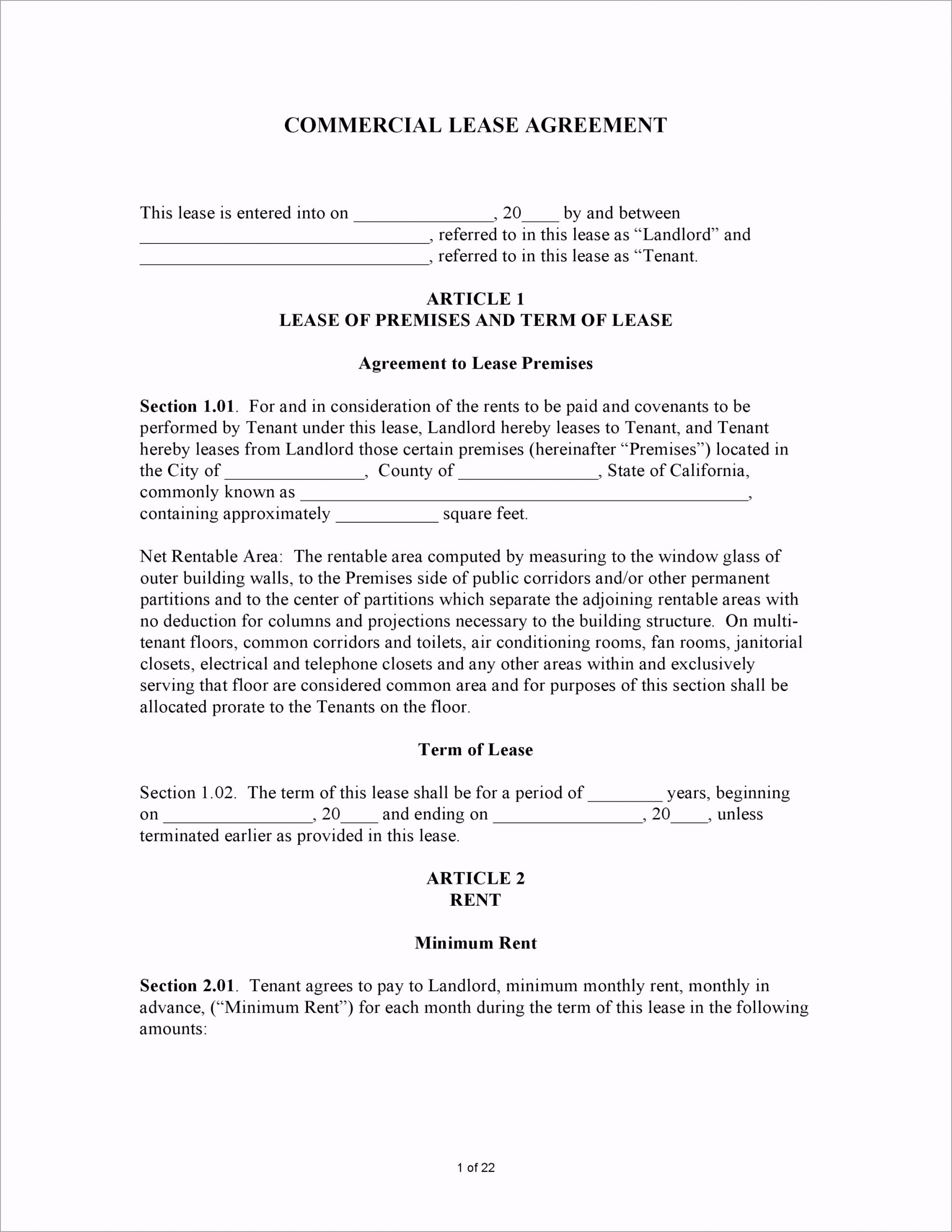California mercial Lease Agreement uwaut