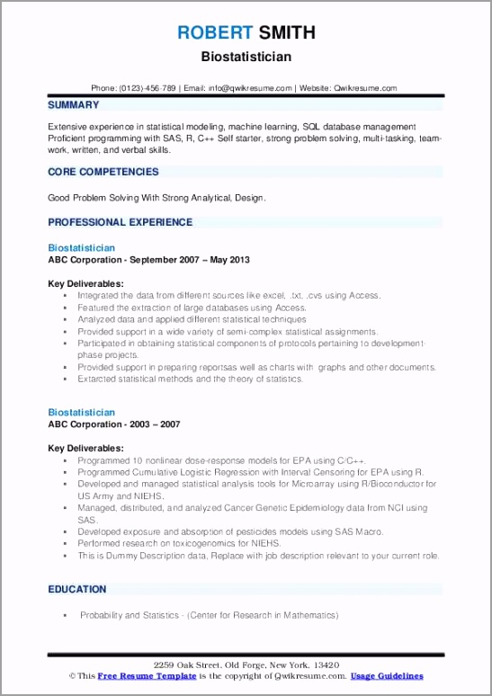 biostatistician pdf patqa
