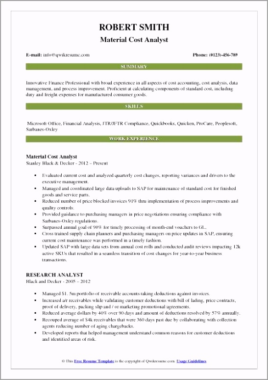 cost analyst pdf iaths