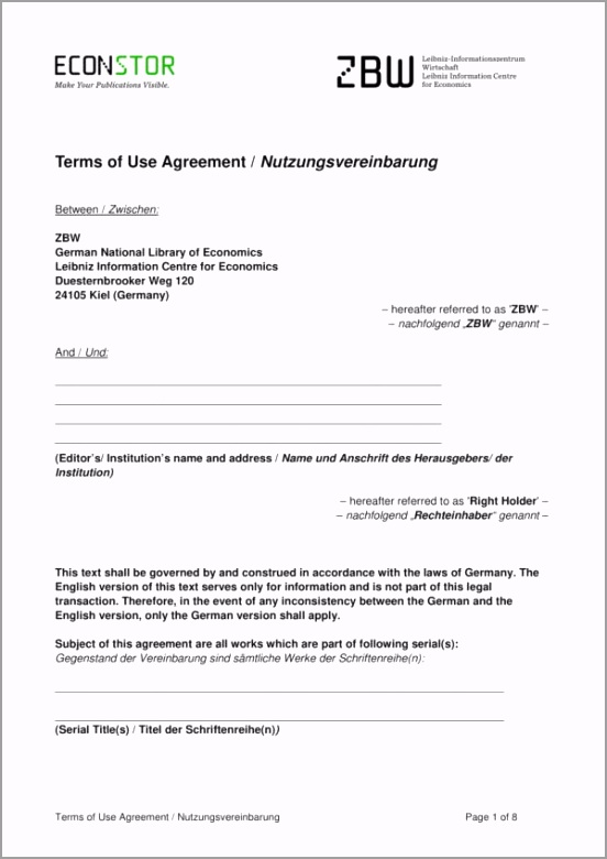 Terms of Use Agreement Template 1 reotu