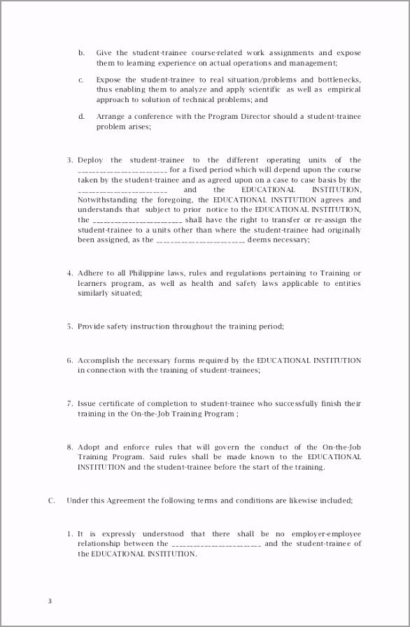 memorandum of agreement sample 3 638 yfzai
