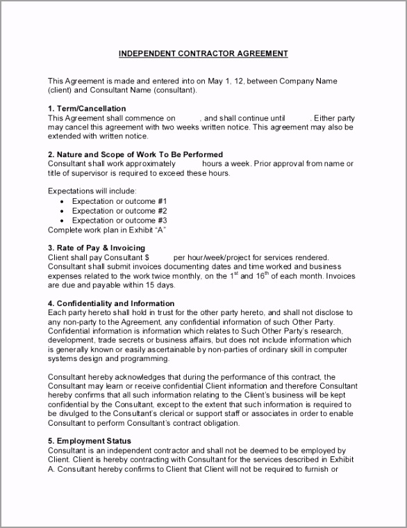 5e f9f5af50a010e1908 independent contractor consultant agreement sample ayitw
