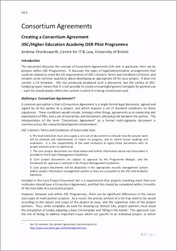 consortium agreement template 1 638 rtioy