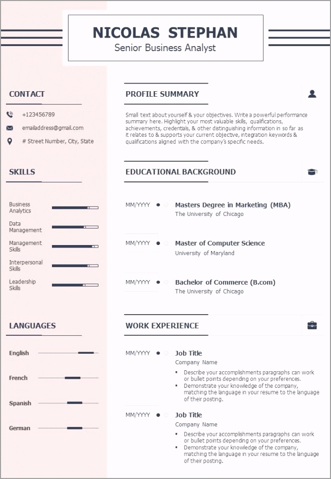 best senior business associate cv example template slide01 rwleo