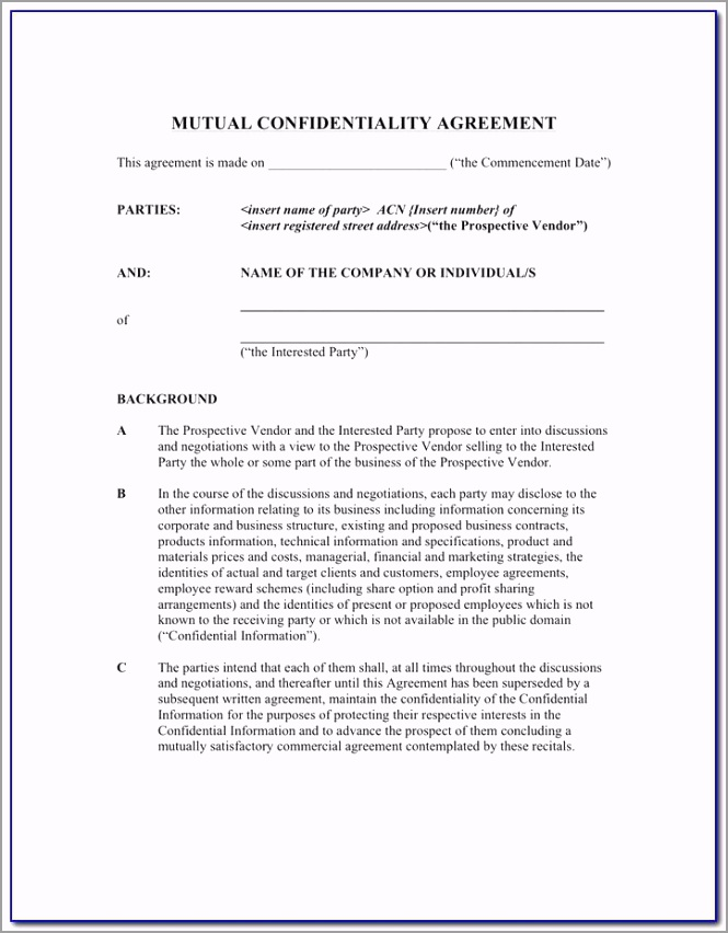 employee confidentiality agreement template south africa reuho