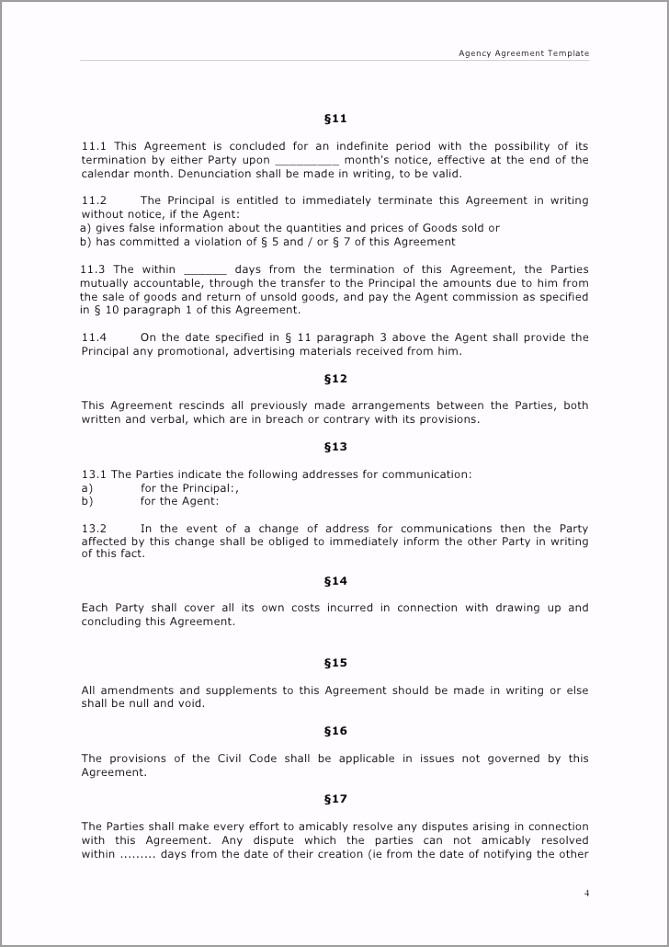 5ea e76e c4e4c advertising agency agreement template sample rotea