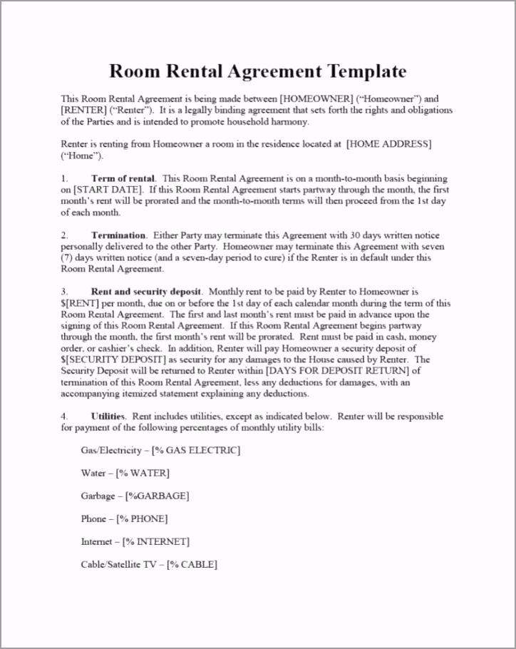 39 simple room rental agreement templates template archive aiuuf