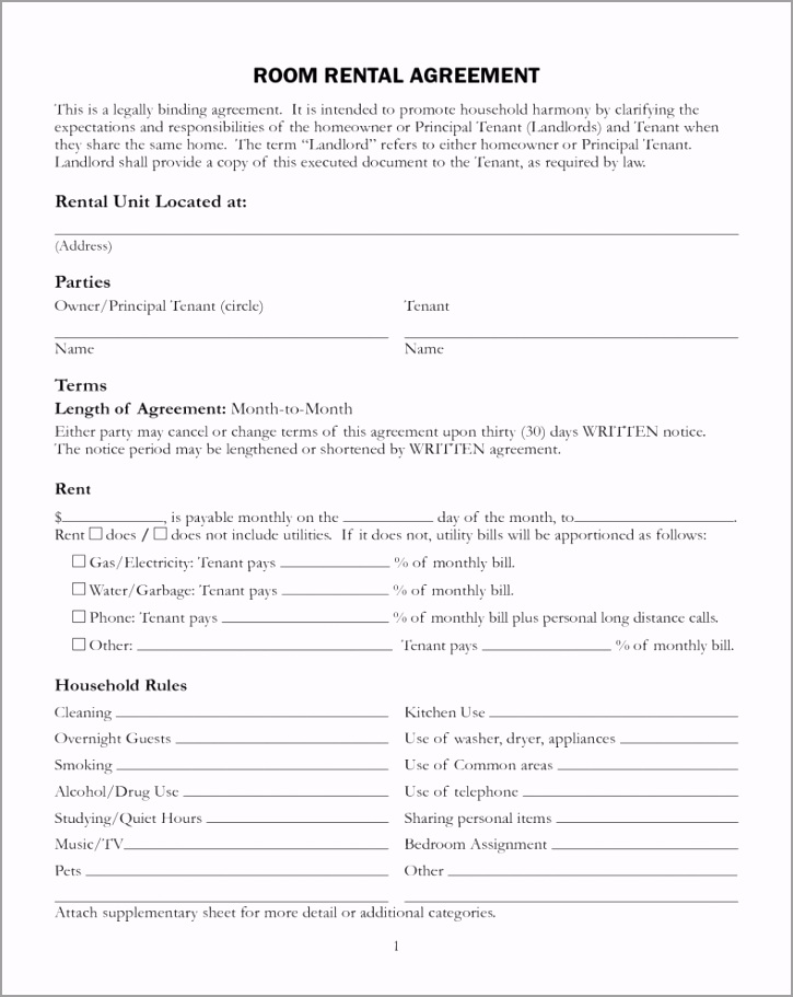 free printable rental lease agreement form template bagnas 1 iyiot