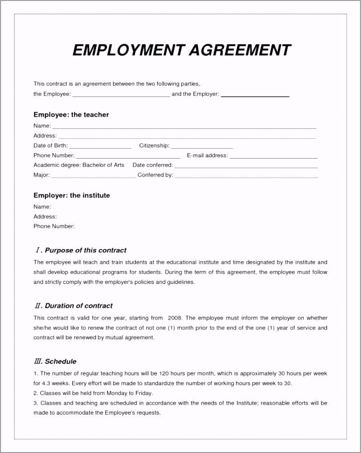 labor contract template invitation templates employment ebece