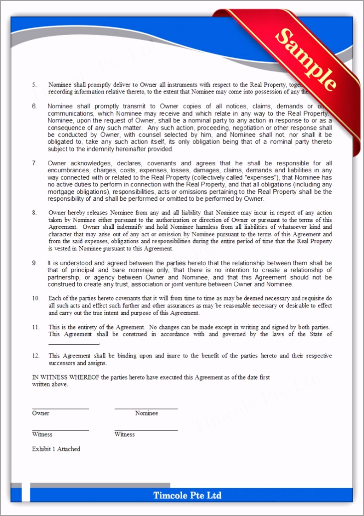Nominee Agreement Form 2 rectp