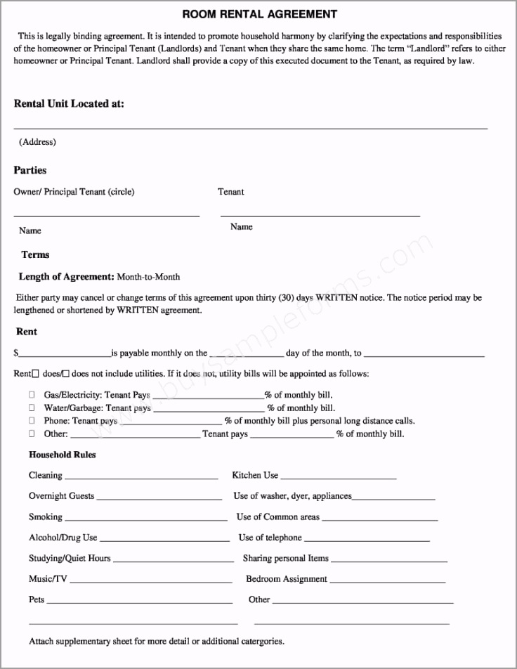 room rental agreement form uyiur