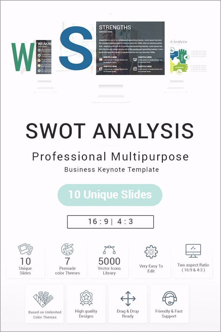 swot analysis presentation keynote template original aeefy