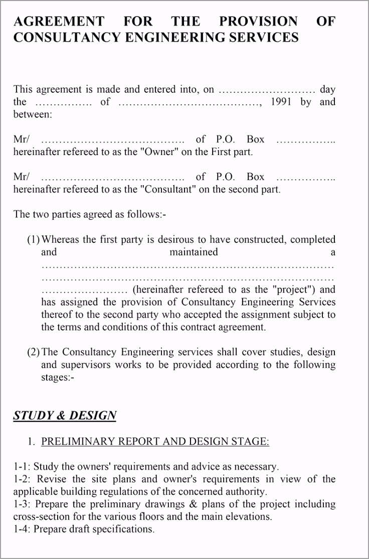 Standard Engineering Consulting Agreement1 1 perot