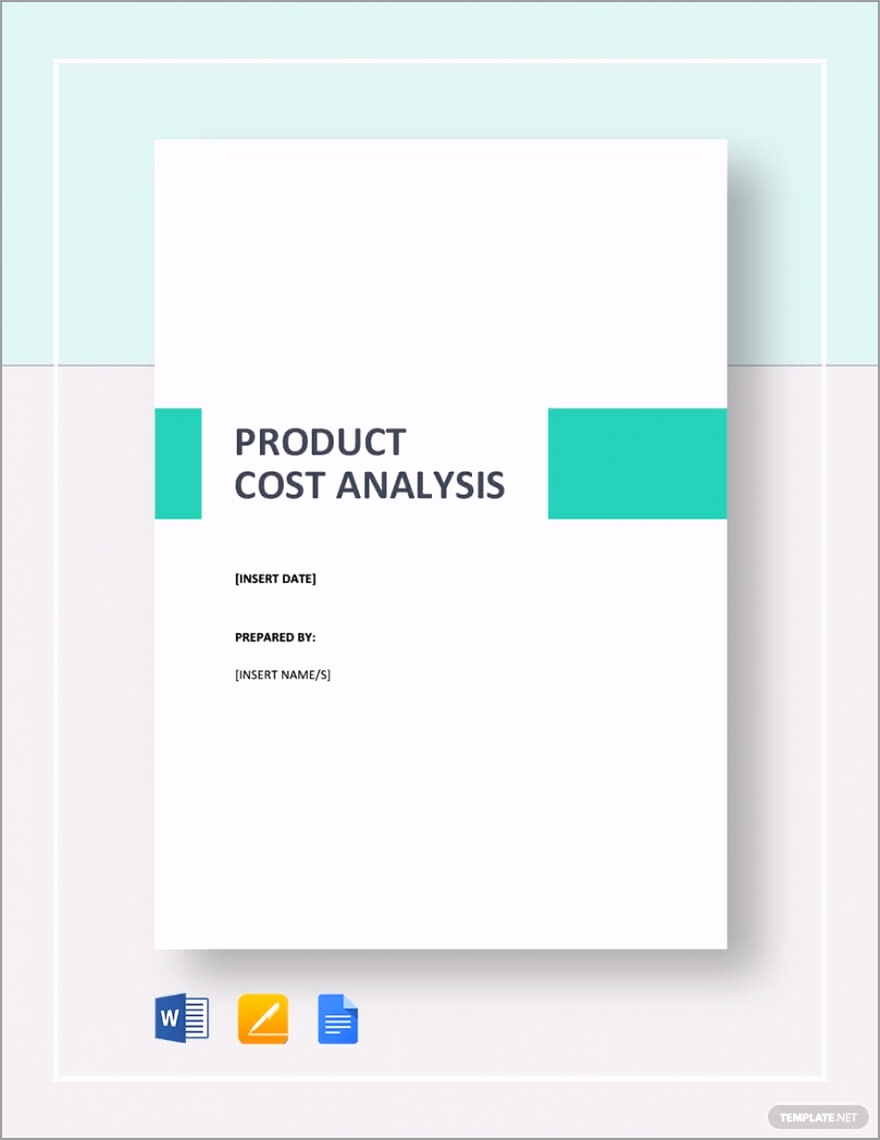Simple Product Cost Analysis Template ipvey