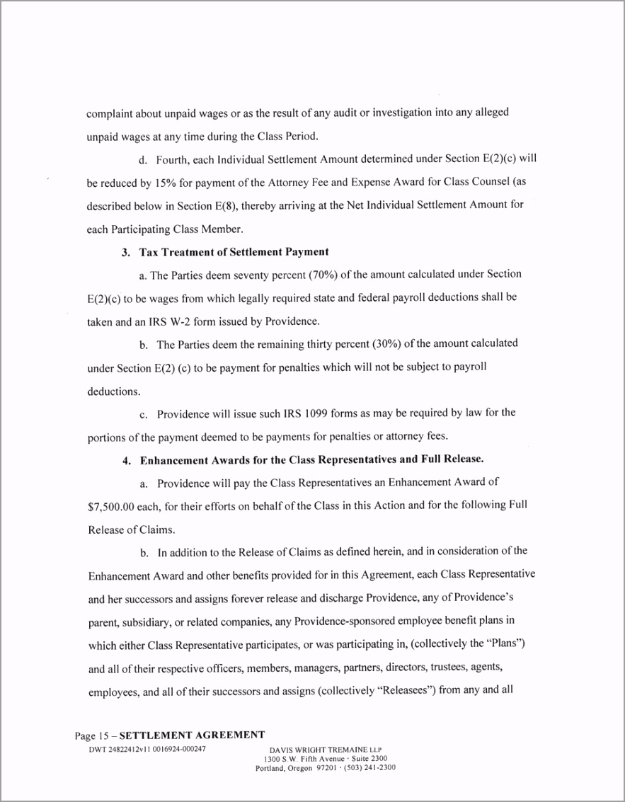 Settlement agreement this settlement agreement agreement is made and entered into this 24th day ppwuy