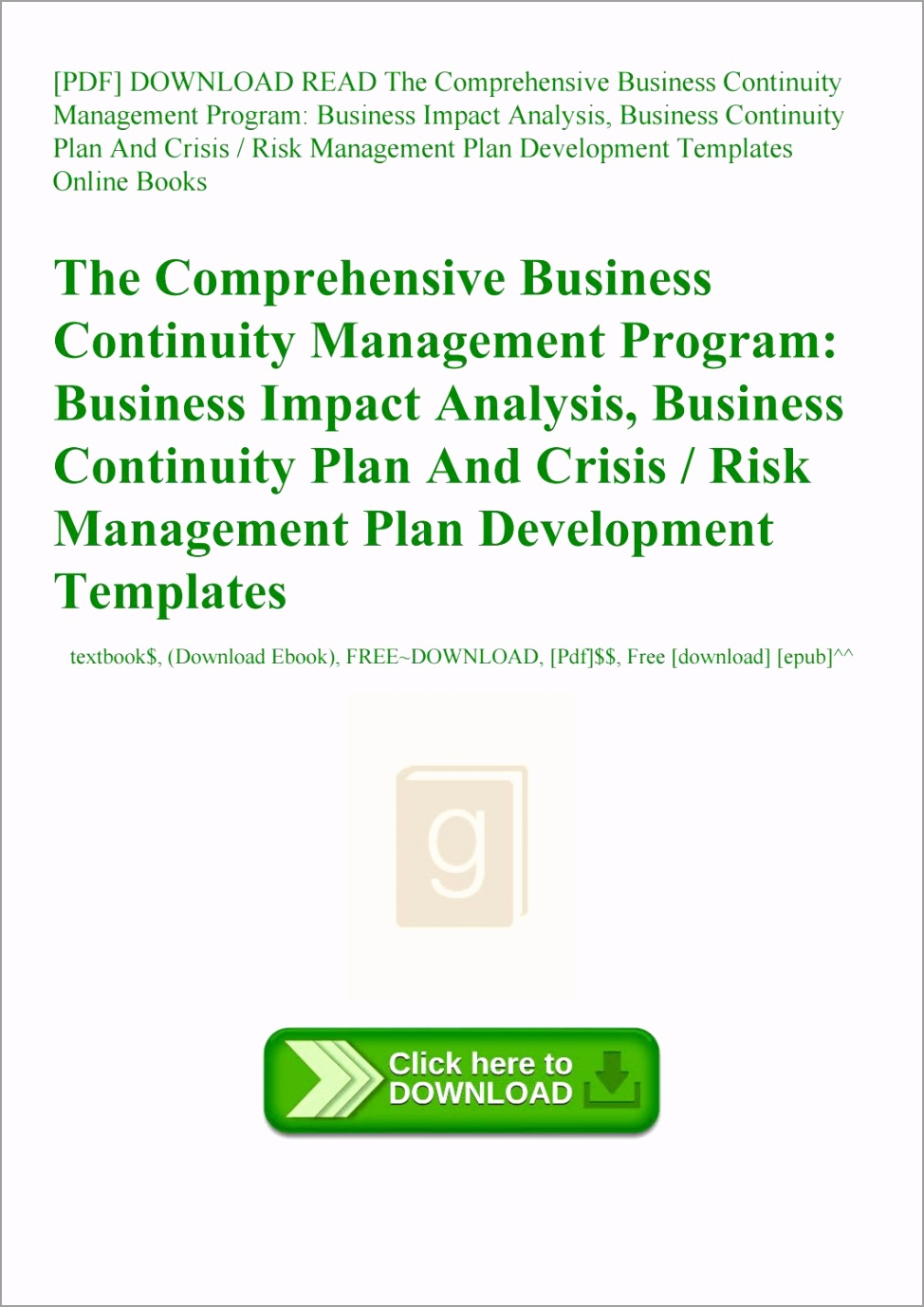 sample business continuity plan pdf free plate excel for small of simple tayet