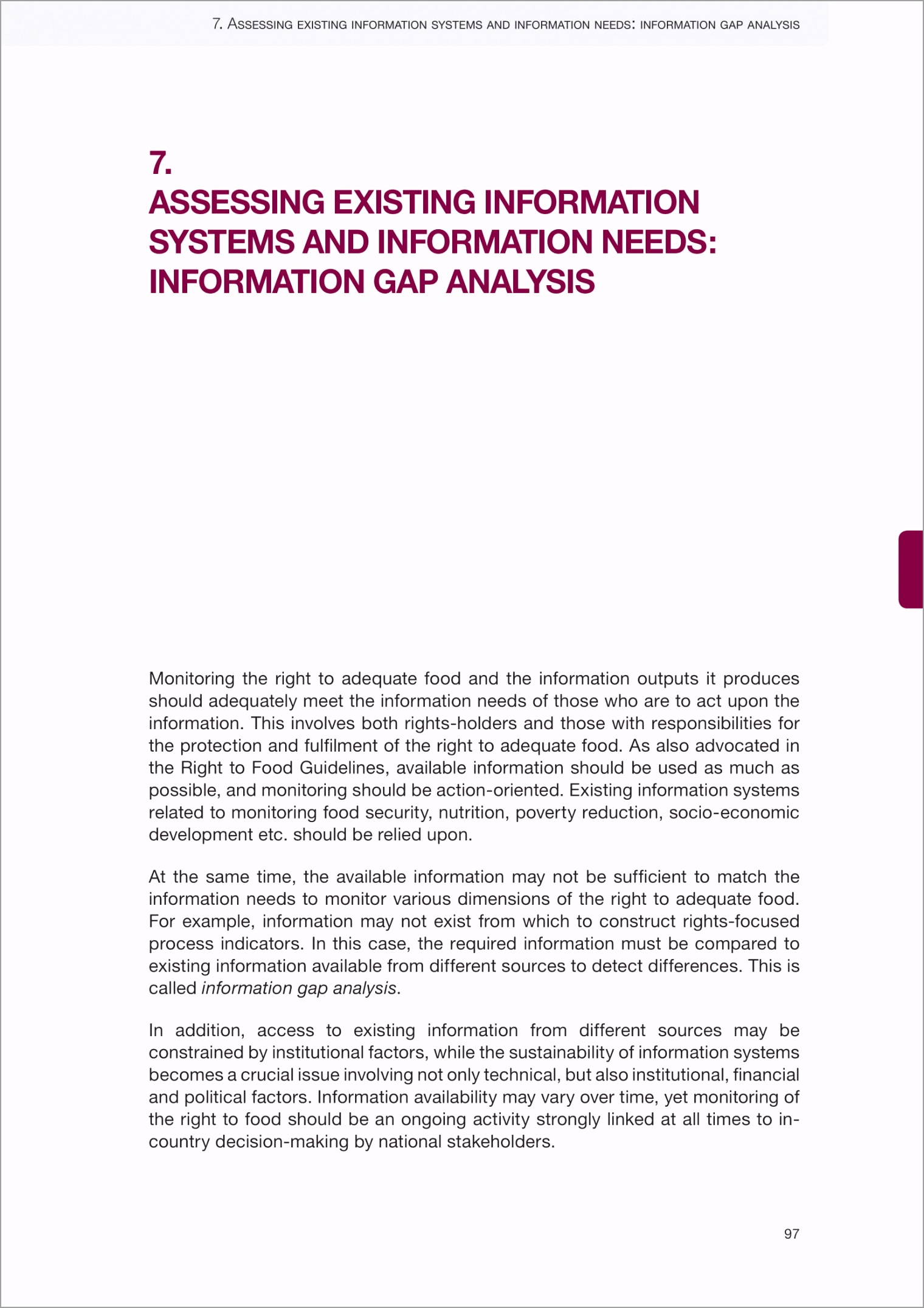 Assessing Existing Information Systems and Information Needs Information Gap Analysis Example 01 rpart