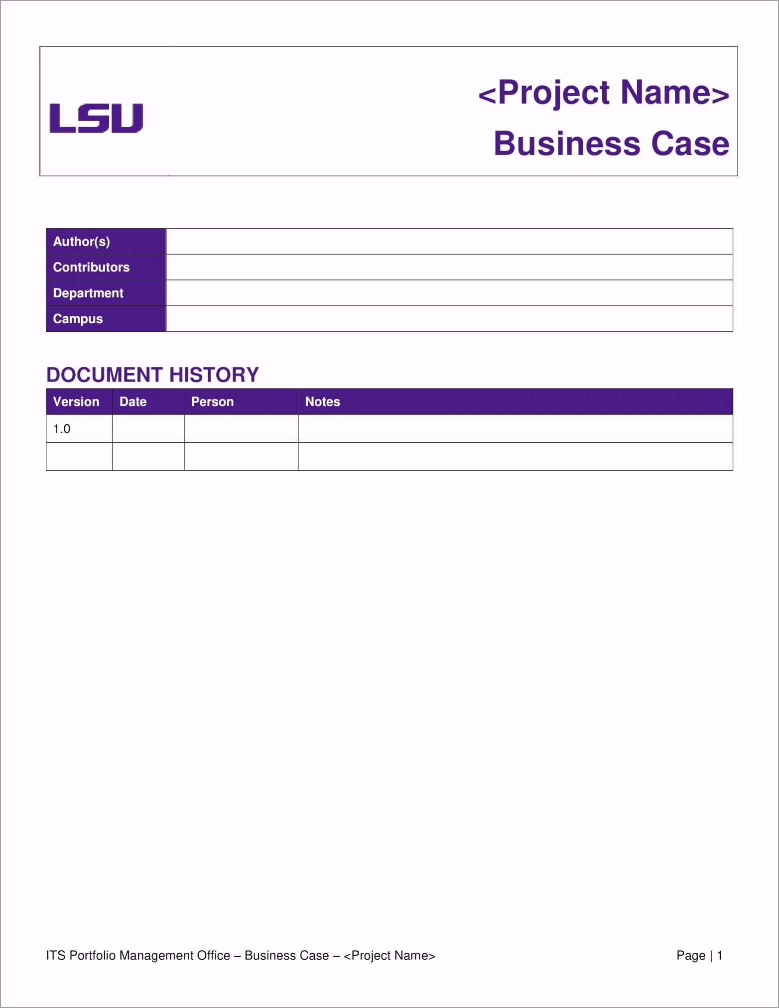 Business Case Analysis Template Example 01 uuuqr